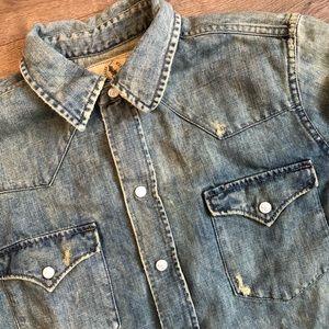 Ralph Lauren Proprietor Western Denim Snap shirt